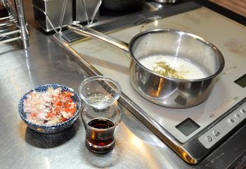 香箱料理の準備