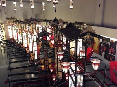 上から見たキリコの展示